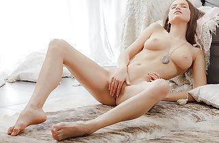 Softcore beautiful vid with a chick masturbating