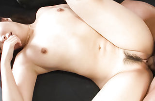 Haruka Oosawa is blindfoled and given a shaft to perceive before her trimmed pussy is toyed.