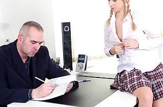 Horny student seduces her teacher with..